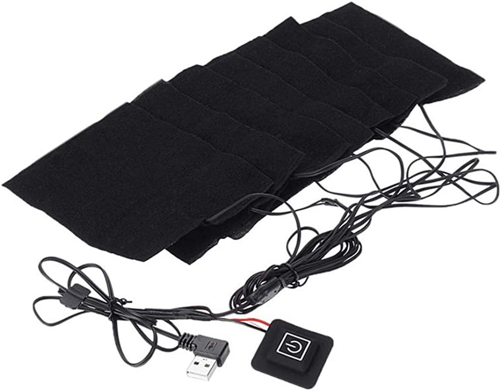 8 in 1 USB Heating Pads Set Warm Foldable Safe Waterproof Heating Pads for Women and Men Hiking Camping Winter