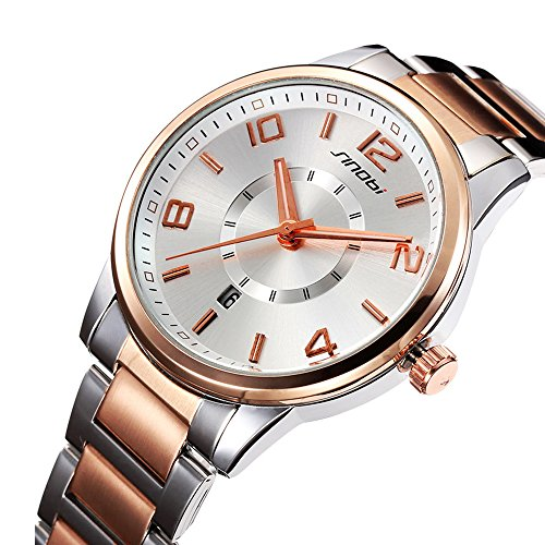 women easy reader date expansion watch ladies quartz clock