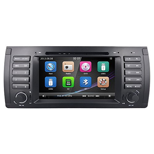 800 Series Gps - Car DVD Player Special for BMW E39 5 Series 1998-2005 In Dash GPS Radio Stereo 7 Inch 1 Din Multimedia Touch Screen Bluetooth 4.0 Sub Volume Control …