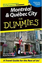 Montreal & Quebec City For Dummies (Dummies Travel) Paperback