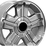 18x8 Wheel Fits GM Trucks and SUVs - Chevy Z71 Style Silver Rim w/Mach'd Face, Hollander 5300