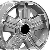 OE Wheels LLC 18 Inch Fits Chevy Silverado Tahoe GMC Sierra Yukon Cadillac Escalade CV88 Silver Mach'd 18x8 Rim Hollander 5300
