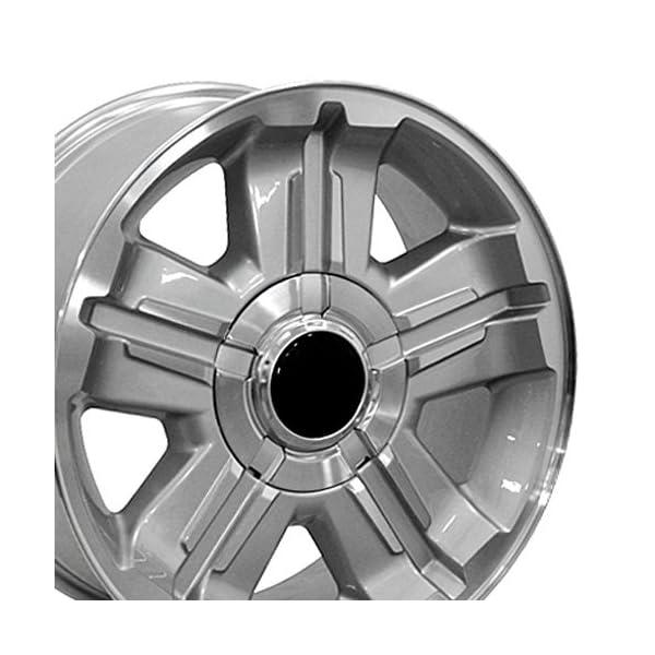OE-Wheels-18-Inch-Fits-Chevy-Silverado-Tahoe-GMC-Sierra-Yukon-Cadillac-Escalade-CV88-Silver-Machd-18×8-Rim-Hollander-5300