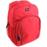Red Water-Resistant Backpack with Customizable Interior & Raincover for the Anker SoundCore Pro (AK-A3142011) - by DURAGADGET