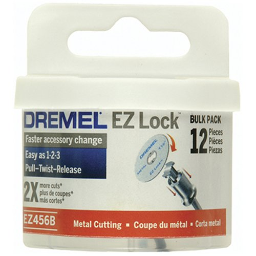 Dremel EZ456B 1 1/2-Inch EZ Lock Rotary Tool Cut-Off Wheels For Metal - 12 pieces