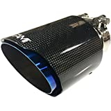 NETAMI NT-2552 Blue Carbon Fiber and Stainless Steel Exhaust Tip, 1 Pack