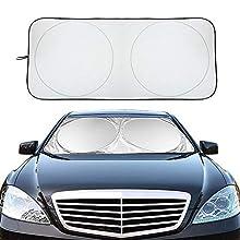 XBRN Car Windshield Sun Shade, Block UV Rays Sun Visor Protector Car Shade, Car Window Shade to Keep Vehicle Cool Auto Universal Car Sunshade 67 x 35