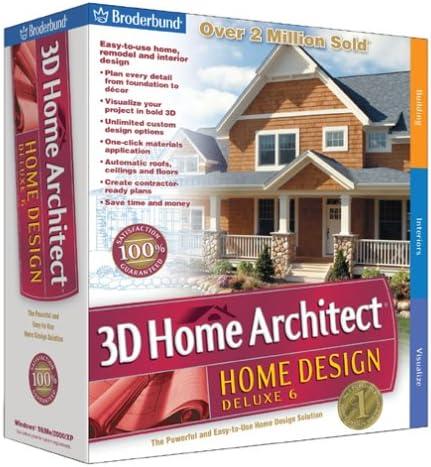 Amazon Com Broderbund 3d Home Architect Home Design Deluxe 6 Old Version