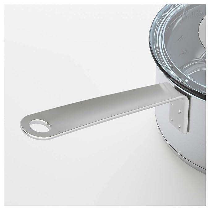 IKEA 365+ - Cazo con tapa (acero inoxidable): Amazon.es: Hogar