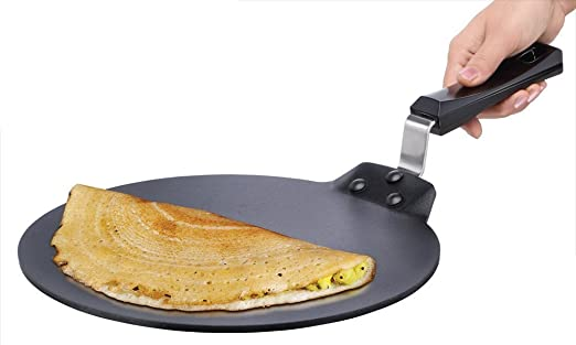 Super Fine Cookware Hard Anodized Plus Concave Tawa,Roti Tawa 25.5 cm With Teflon 3 layer coating
