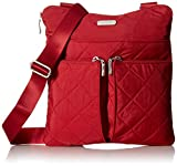 quilted baggallini - Baggallini Quilted Horizon Crossbody with Rfid, Red Quilt