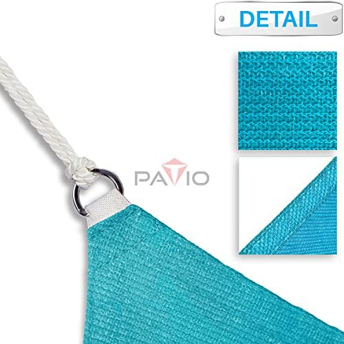 Patio Paradise 8' x 17' FT Solid Turquoise Green Sun Shade Sail Rectangle Square Canopy