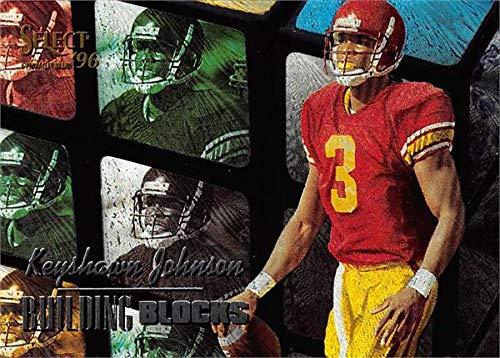 (Keyshawn Johnson Football Card (USC Trojans) 1996 Pinnacle Select Building Blocks Rookie Refractor #20)