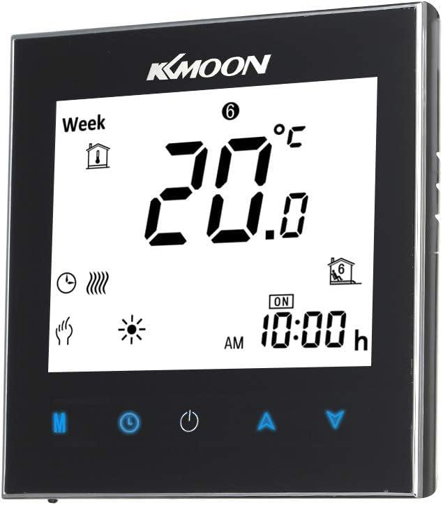 KKmoon Digitaler Fu/ßbodenheizungs-Thermostat AC 95-240 V 16A Touchscreen-LCD-Anzeige Raumtemperaturregler