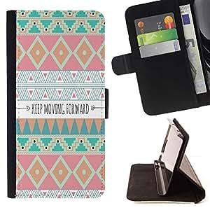 Momo Phone Case / Flip Funda de Cuero Case Cover - Avanzando motivación india - LG G2 D800