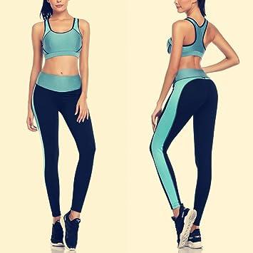 WYLYJTZ Pantalones de Yoga Juego de Yoga Deportivo para ...