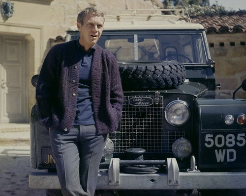 steve-mcqueen-cool-iconic-pose-by-land-rover-classic-car-11x14-promotional-photograph