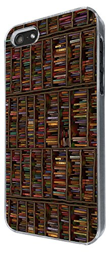 838 - Book Shelves Library Books Design iphone 4 4S Coque Fashion Trend Case Coque Protection Cover plastique et métal