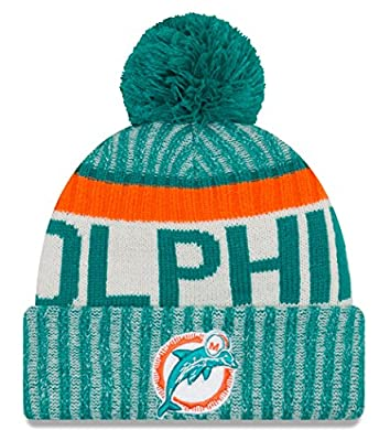 "Miami Dolphins New Era 2017 NFL Sideline On Field ""Historic"" Sport Knit Hat"