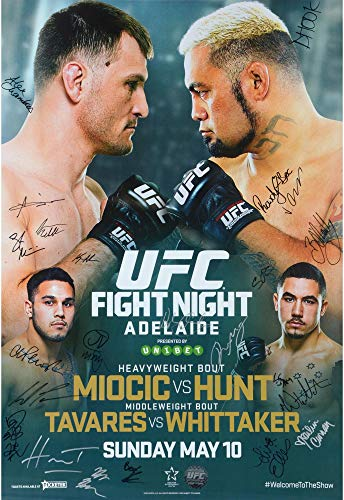 """UFC Fight Night 65 Hunt vs. Miocic Autographed 27"""" for sale  Delivered anywhere in USA"""