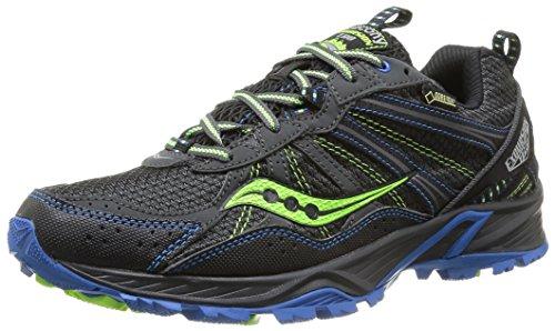 Saucony Men's 25204 01 Running Shoes Black/Blue/Citron AuInYwH