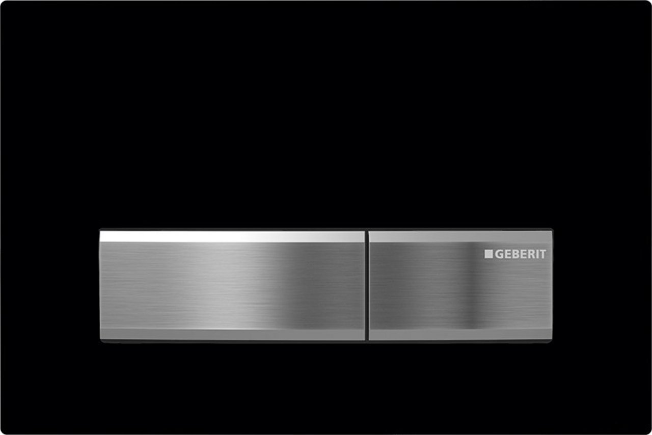115.788.DW.5 Sigma50 Toilet Dual Flush Actuator, Black Glass by Geberit