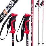 Ski Poles Graphite Carbon Composite - Zipline Lollipop U.S. Ski Team Official Supplier (Cherry Red, 48' in./122 cm)