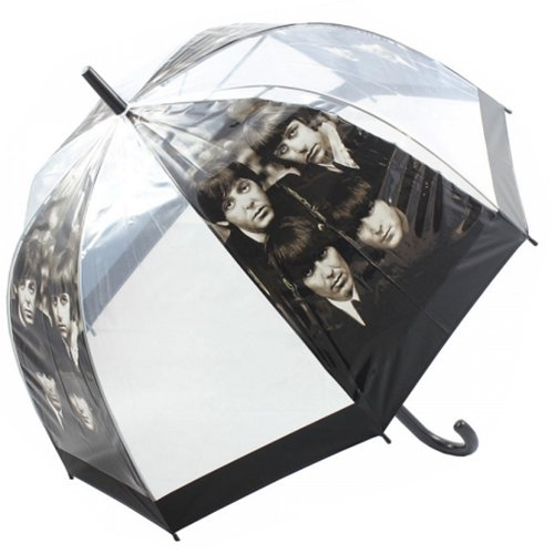 81CM THE BEATLES UMBRELLA DOME SHAPE HANDLE WALKING BROLLY TRANSPARENT NEW GIFT