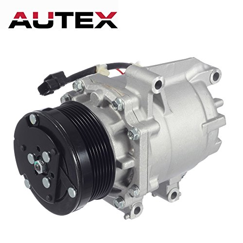 AUTEX AC Compressor & A/C Clutch C1804 C1804R C2468R 0610225 TEM275739 275739 2004918AM TEM255528 38810RNAA02 38810RRBA01 1102577 1102608 Replacement for Honda Civic 2006 2007 2008 2009 2010 2011 1.8L ()
