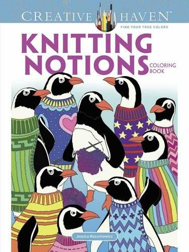 Knitting Activity Book - Creative Haven Knitting Notions Coloring Book (Adult Coloring)