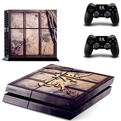 Sekiro Shadows Die Twice PS4 Wrap Skin Cover - Playstation 4 Vinyl Decal Sticker Protective for PS4 Console and 2 PS4 Controller by Mr Wonderful Skin (Resident Evil 4 Vs Resident Evil 5)