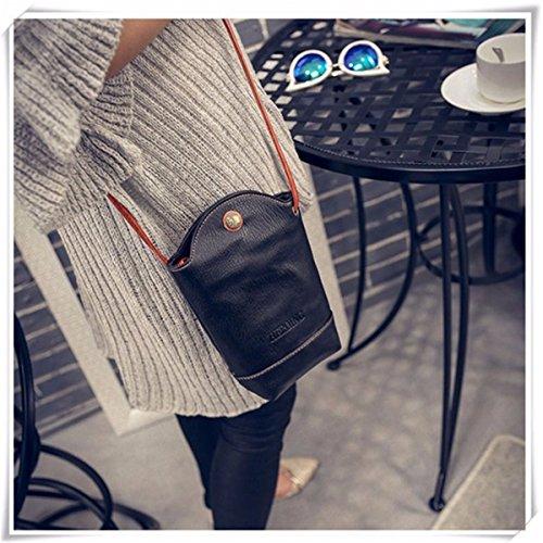 Crossbody Bucket Irregular JOSEKO Casual Woman PU Black Little Bag Phone Bag Bag x7Oz70