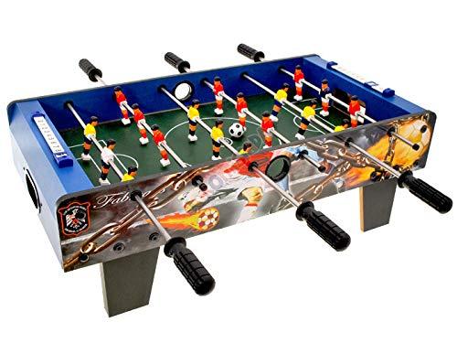 Kemket Table Footbal, Table de Jeu 6 rangées de Pieds, Jeux de Table Le Football intérieur extérieur Enfants Adolescents