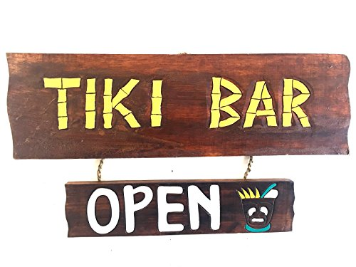 OMA Tiki Bar Sign Hand Carved Wooden Sign Wall Hanging Tiki Hut Polynesian Decor Brand