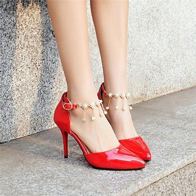 Talones de las mujeres Primavera Verano Otoño Otros Fleece oficina y carrera del partido y vestido de noche del tacón de aguja Otros Rosa Gris Rojo Gray