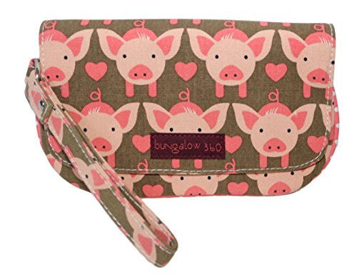 Pig Wristlet Vegan 360 Canvas Natural Bungalow 18qBq