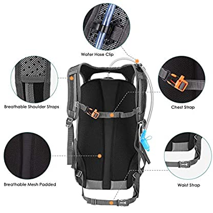 Kuyou Insulated Hydration Backpack,Large Capacity Hydration Pack With 2L Leakproof Hydration Bladder Lightweight Water… 6