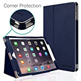 iPad Air 2 Case, [Corner Protection] CaseCrown Bold Standby Pro (Blue) with Sleep/Wake & Multi-Angle Viewing Stand