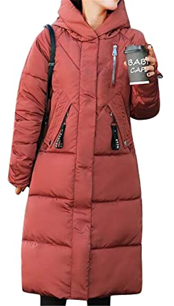 809107d96da Amazon.com  Fubotevic Women Thicken Warm Winter Hooded Plus Size Down  Quilted Jacket Coat Outerwear  Clothing