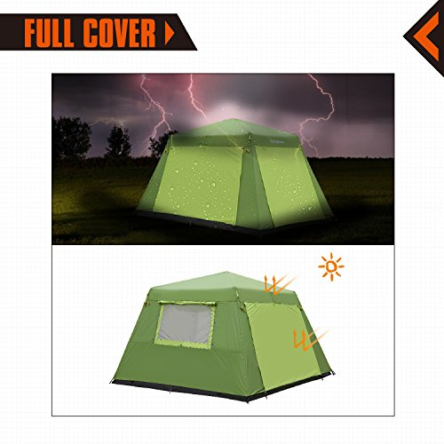 5c05d0afc1 KingCamp CAMP KING 8-person 2-room Instant Camp Cabin Tent, - Import It All
