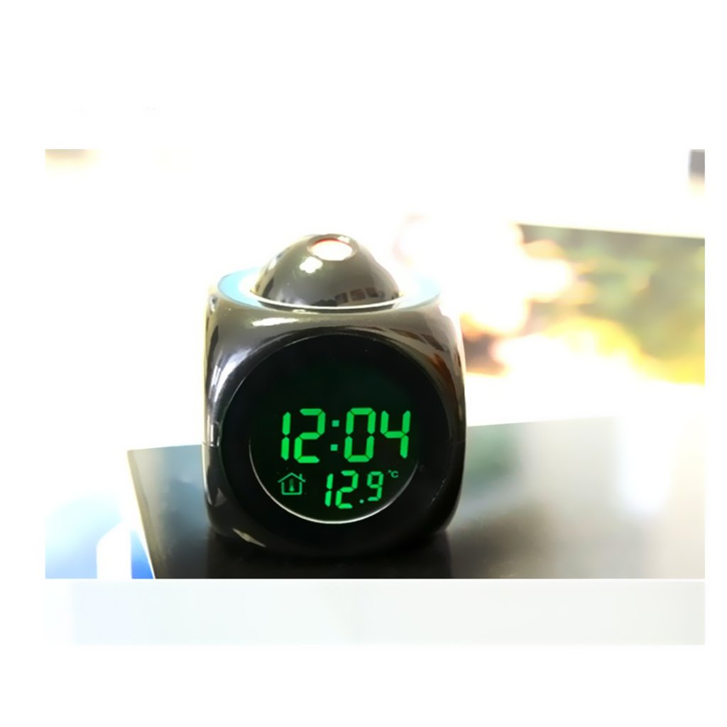 Buy Generic Alarm Clock With Multi Function Digital Lcd Voice Analog Timers Gururaj Products Talking Led Projection Black Online At Low Prices In India