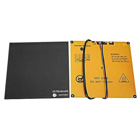 Anycubic 220x220x5.5mm Ultrabase Plataforma con Cama Caliente para ...
