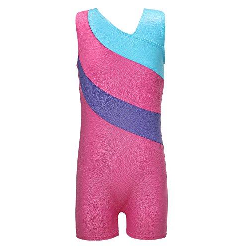 Toddler/Girls Gymnastics Leotard Mermaid Rainbow Biketard Shortall 3-15Years