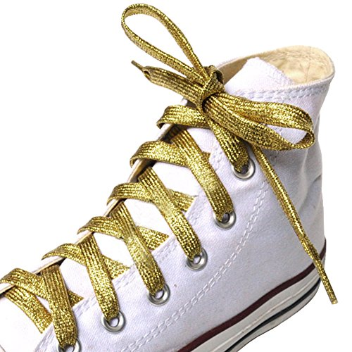 George Jimmy Shoelaces for Sneakers&Casual Shoelaces Different Shoe String#Golden