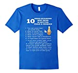 Mens Why Beer Is Better Than A Woman Funny T Shirt Large Royal Blue