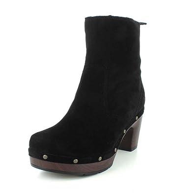 Amazon.com | Clarks Ledella Abby Womens Clog Ankle Boots | Shoes