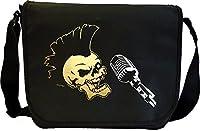 Vocalist Singing Punk Skull - Sheet Music Document Bag Musik Notentasche...