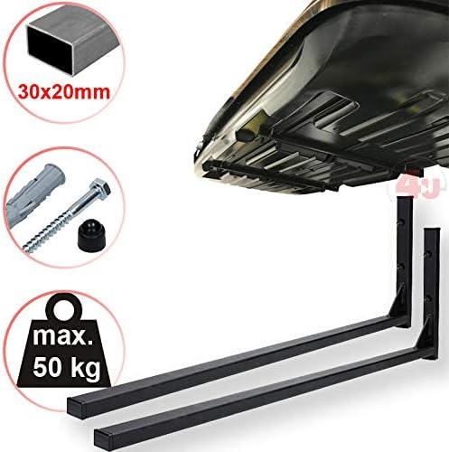4u Roof Box Bracket 42 5 Cm 50 Kg 30 X 20 Mm Wall Mount Roof Rack Luggage Rack Roof Box Auto