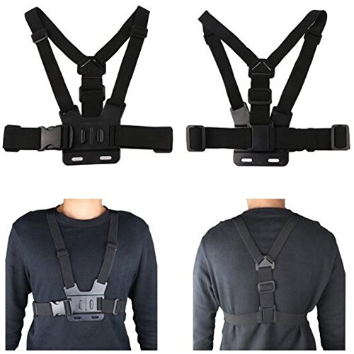 3+ Walway Adjustable Chest Mount Harness for Gopro Hero 5 2 3 Session 1 and Other Action Cameras Fully Adjustable Strap Size 4