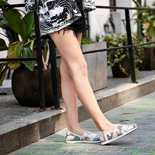 Tiosebon Donna Slip On Sneakers-scarpe Traspiranti 5931 Bianco